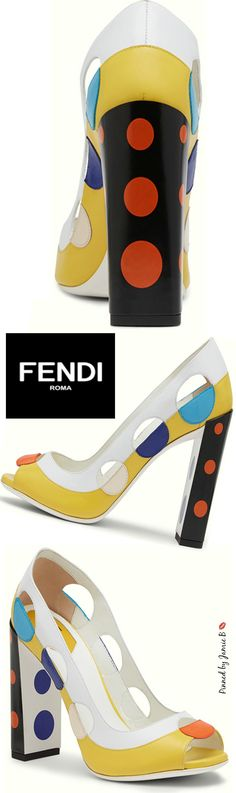 Fendi | S/S 2015 - Polka-dot, Open-toe Pumps | Jamie B