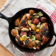 Skillet Sticky Chicken - Our fall back Sunday dinner is easy to make and delicious