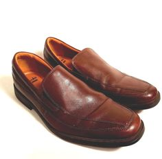 Clarks Mens Tilden Free Slip On Dress Shoe Dark Tan Leather Sizes 9M