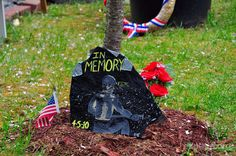 Signs and symbols for the 29 fallen coal miners, The Upper Big Branch Mine explosion, April 5th 2010. Photo