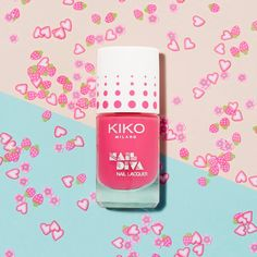 A pretty pink Beach Babe Nail Lacquer in a high impact shade with long lasting colour.