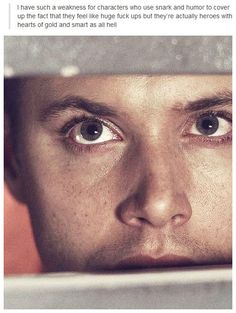 Not only do I love supernatural, but this is a really good picture to draw, it's a good close up, you can see lines and shadows pretty good, and his eyes are real pretty