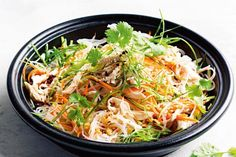 Poached chicken noodle salad with toasted sesame dressing