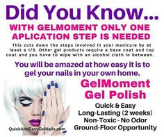 This is why I love GelMoment! No top.or base coat which is saving me so much time! Plus i can do my nails when I want no appointment needed Gel Manicure, Gel Nail Polish, Gel Nail Removal, How To Remove, How To Apply, Thing 1, Nail Envy, Base Coat, Sally Hansen