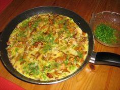 Das perfekte Pfifferling-Omelett-Rezept mit Bild und einfacher Schritt-für-Schritt-Anleitung: Pfifferlinge putzen und die größeren etwas kleiner…