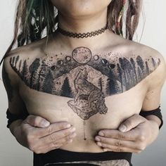 As we mentioned above, today we're going to satisfy our ink hunger with the most beautiful wolf tattoo designs that the internet has ever seen Wolf Tattoos, Nature Tattoos, Black Tattoos, Body Art Tattoos, Girl Tattoos, Tatoos, Forest Tattoos, Leg Tattoos, Sleeve Tattoos