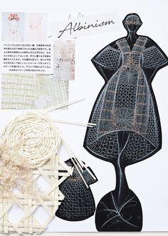 1次審査通過者 | HEP OFC -Original Fashion Contest- 公式サイト Textiles Sketchbook, Fashion Sketchbook, Fashion Sketches, Fashion Moda, Work Fashion, Fashion Art, Albinism, Fashion Design Portfolio, Quirky Art