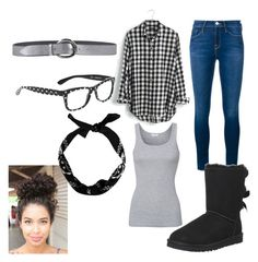 """""""Comfy Flannel and Boots"""" by freespirit1177 ❤ liked on Polyvore featuring Frame Denim, Madewell, UGG Australia, Dolce&Gabbana, Splendid, Orciani, women's clothing, women, female and woman"""