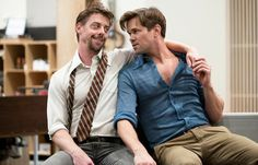 "Christian Borle, left, and Andrew Rannells are in the revival of ""Falsettos."""