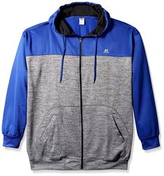 c689323be4e1 Men s Big and Tall Full ZP Poly Fleece Hood With Contrast Yoke r LC - Royal  Heather - CZ182S6K78R