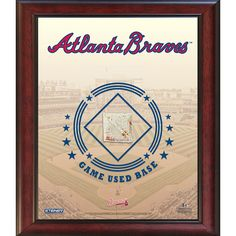 Atlanta Braves Game Used Base 11x14 Stadium Collage