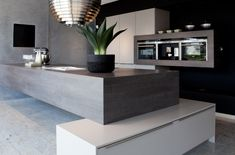 A little too modern for me, but I can still appreciate the cool design.  Moderne keuken | Au Four