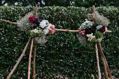 DIY boho floral wedding arbour