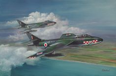 Hunter pair painting by Richard Wheatland