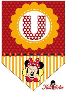 Banderines de Minnie.