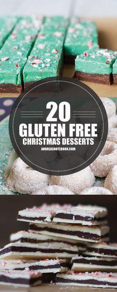 20 Gluten Free Dessert Recipes for Christmas #glutenfree #glutenfreedessert