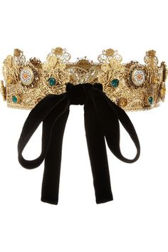 Dolce & Gabbana Gold-plated Swarovski crystal crown - just your everyday crown nbd