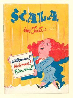 Scala im Juli: Willkommen! Welcome! Bienvenu! Variete Zirkus Kabarett, Waldoff, Claire,  1936