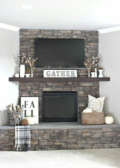 I would paint the fireplace White. Great Rooms, Fireplaces, Flat Screen, Fire Places, Fireplace Mantel, Fire Pits