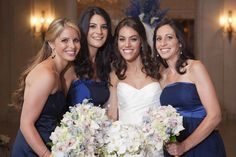 Bride and Bridesmaids Photography: Images by Berit, Inc. Read More: http://www.insideweddings.com/weddings/opulent-summer-wedding-in-new-york-city/322/