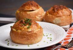 Ricottával töltött zsemle | NOSALTY Ricotta, Cheddar, Baked Potato, Muffins, Potatoes, Baking, Breakfast, Ethnic Recipes, Food