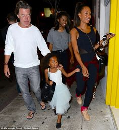 Mel B marks daughter Madison's fifth birthday on family dinner out | Daily Mail Online