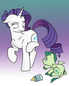 I have no words for this just so dam funny, poor rarity that just has to hurt, and just look at Baby T he's so adorable Colored for kil. I want milk! - colored for Rarity And Spike, Kilala97, Raimbow Dash, Mlp Memes, Little Poni, My Little Pony Comic, Mlp Comics, Imagenes My Little Pony, Pony Drawing
