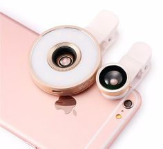 Clip-ons - Flashlight LED Lens/ Wide angle Camera Lens for Androids and iPhones