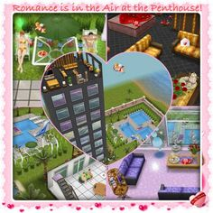 #Sims #Freeplay I like the twin pools in the right side of the heart shape cutout.