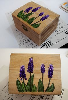 Hand painted wooden box by Picotta, via Flickr