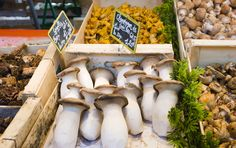 Why Paris in the Fall is amazing - mushrooms at the open-air markets