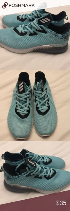 1d156e2db Teal Alpha Bounce sneaker Blue and white Alpha Bounce sneaker. Excellent  condition adidas Shoes Athletic