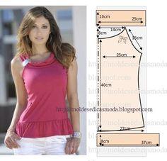 Plantillas de moda para Medida: BLUSA fácil de hacer - 4