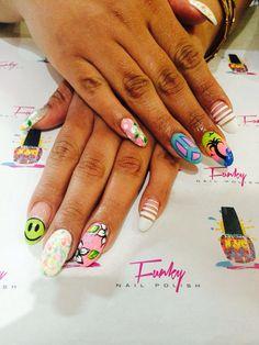 #FunkyNailPolish #byClaritza #nails #nailart #naildesigns # nailswagg