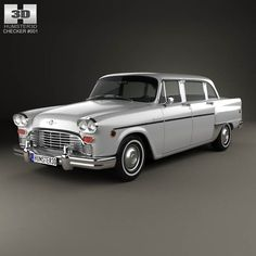 Checker Marathon 1968 by The model was created on real car base. It's created accurately, in real units of measurement, qualitatively and maximally clos Car 3d Model, Modelos 3d, Car Brands, Station Wagon, Ford Trucks, 3d Design, Marathon, Vintage Cars, Dream Cars