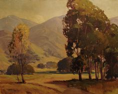 California Foothills and golden light by Charles Bell, 24x30 Oil on Canvas