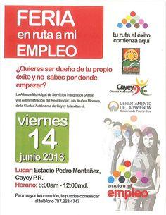 Feria en Ruta Mi Empleo @ Estadio Pedro Montañez, Cayey