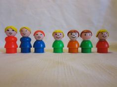 Your place to buy and sell all things handmade Orange Bodies, Green Bodies, Yellow Hair, Red Hair, Mcdonald's Restaurant, Bob With Bangs, Vintage Fisher Price, Light Brown Hair, Little People
