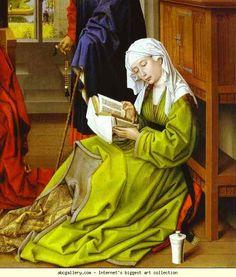 Rogier van der Weyden. Mary Magdalene. c.1445. Oil, transferred to modern panel. The National Gallery, London, UK