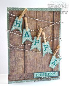 Cristal Hobbs makes HAPPY fun with this interactive touch to a fabulous card design leading your eye right to the Birthday sentiment.