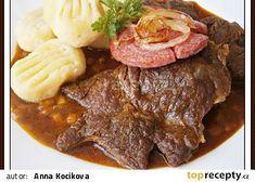 Plzeňské roštěnky recept - TopRecepty.cz Steak, Beef, Red Peppers, Meat, Steaks, Ox, Ground Beef