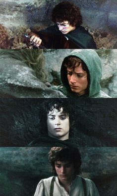 The many faces of Frodo Baggins Aragorn, Gandalf, Fellowship Of The Ring, Lord Of The Rings, Frodo Baggins, One Does Not Simply, Elijah Wood, Jrr Tolkien, Dark Lord