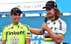 Tour de France: Peter Sagan met l'ambiance à la présentation des équipes (vidéo) -                  Le champion du monde de cyclisme sur route Peter Sagan et le plus jeune coureur à participer au Tour de France, Sondre Holst Enger, ont mis l'ambiance jeudi à Sainte-Mère-Église (Manche) lors de la présentation des équipes, deux jours avant le Grand Départ au Mont-Saint-Michel.  http://si.rosselcdn.net/sites/default/f