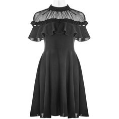 LAST ONE LEFT THIS IS FOR A SIZE XS This little black dress features a detachable frill across the chest (it can be buttoned on off at the shoulders). Please reference the size chart below, as sizes run small (Asian sizes). Material: polyester and spandex Pretty Outfits, Pretty Dresses, Cool Outfits, Gothic Dress, Gothic Outfits, Dark Fashion, Gothic Fashion, Latex Fashion, Steampunk Fashion