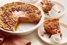 Apple-Pumpkin Pecan Pie