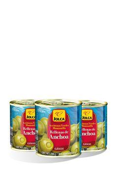 Rellenas con anchoa lata 3x125 ml #aceitunasrellenas #anchoa #Jolca