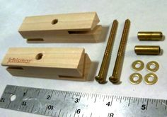 Two Blade Whirligig Propeller Hub Parts W/ Brass Hardware Jchismar - Wind Bird