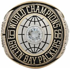 """1966 Green Bay Packers """"Super Bowl I"""" Champions 14K Gold and Diamond Player's Ring"""