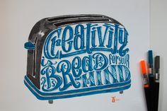 Italian graphic designer and hand-letterer Daniele Tozzi specializes in hand-drawn calligrams, which are visual images made up of strategically arranged words that make up phrases, poems and other kinds of writing. Typography Served, Typography Letters, Lettering Design, Hand Lettering, Illustration Tumblr, Illustrations, Hand Type, Beautiful Hands, Creative Art