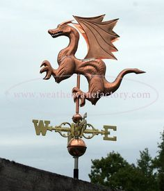 Devon House, Copper Dragon, Weather Vanes, Copper Sheets, Ways Of Seeing, Mother Nature, Mythology, Lion Sculpture, Statue